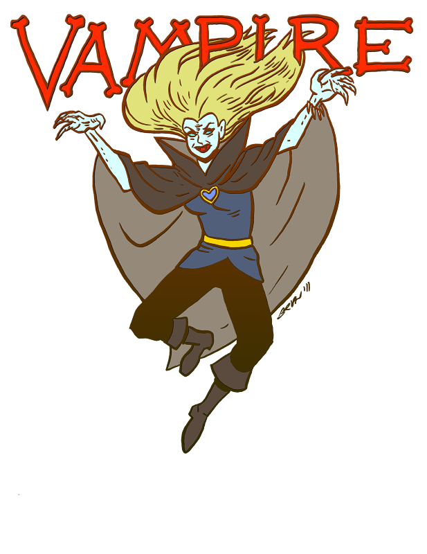 Vampire from Dungeons and Dragons Monster Manual